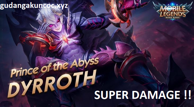 Akun ML Gratis Hero Dyrroth Full Damage